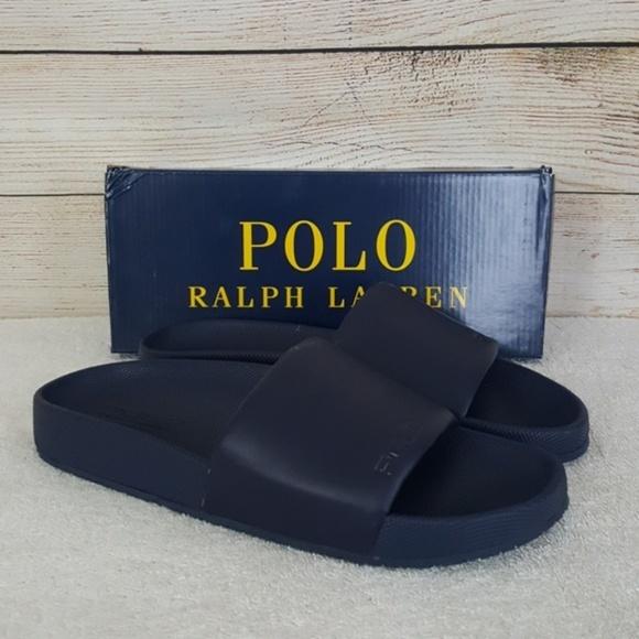 01ef008be78a New Polo Ralph Lauren Navy Cayson Slide Sandal